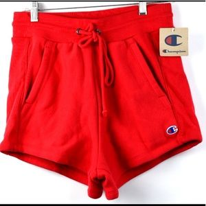 NWT Champion Pull String Activewear Shorts Red